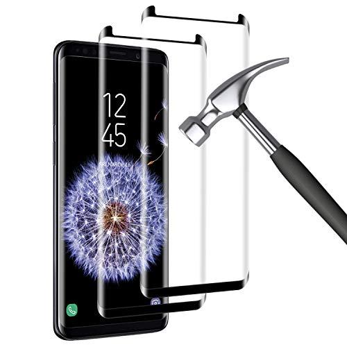 Mriaiz [2-Pack Protector Pantalla Compatible con Samsung Galaxy S9 Plus, [9H Dureza] [Alta Definicion] [Anti Rasguños], Cristal Vidrio Templado/Protector de Pantalla para Samsung Galaxy S9 Plus
