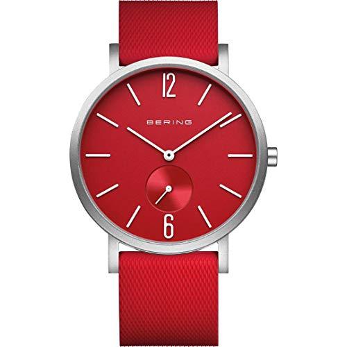 BERING Unisex Analog Quarz True Aurora Collection Armbanduhr mit Silikon Armband und Saphirglas 16940-509
