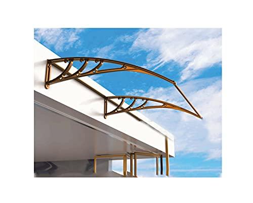 GXFWJD Marquesina Policarbonato/toldos/Tejadillo Puerta Protección Toldo para Puerta O Ventana Tejadillo De Protección Protéjase del Sol La Lluvia (Color : Clear, Size : 60x120cm)