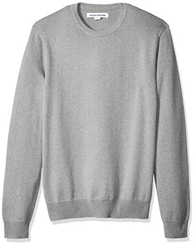 Amazon Essentials Men's Crewneck Sweater, Light Grey Heather, Large