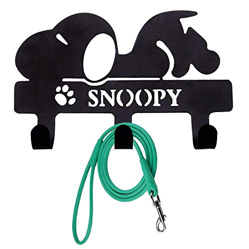 PandS Snoopy Key Hooks - Key Holder for Dog Leash - Wall Hooks for Hanging Coats, Purses, Bags - Wall Mount Hat Rack - Decor for Home Entryway and Bathroom