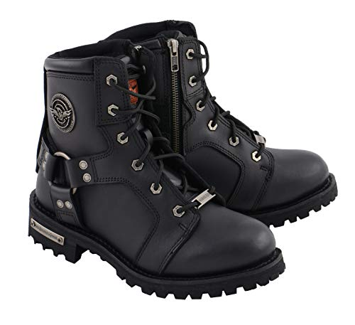Milwaukee Leather Women's Lace to Toe Harness Boot