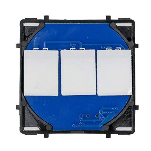 BSEED Interruptor de luz táctil de 2 Gang 1 vía con indicador LED para productos de bricolaje(Carga máxima: 3-500 W)