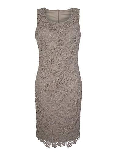Alba Moda Kleid aus edler Spitze Allover Taupe