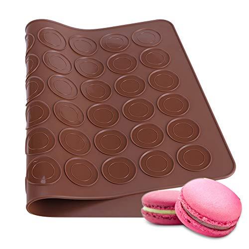 Rehomy - Stampo in silicone con 48 cavità, per macaron, biscotti, pasticceria, fai da te, utensili per decorare macaron, cupcake, dessert