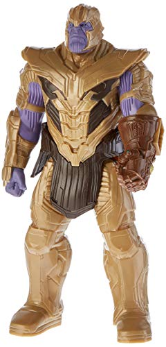 Hasbro Marvel Avengers Endgame - Thanos Titan Hero Deluxe compatibile con Power FX (Action Figure da 30 cm, Power FX non incluso), 4 anni+