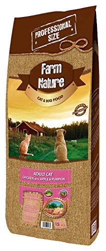 Farm Nature Pienso seco para Gatos FN Cat Pollo con Manzana y Calabaza - 15 kg