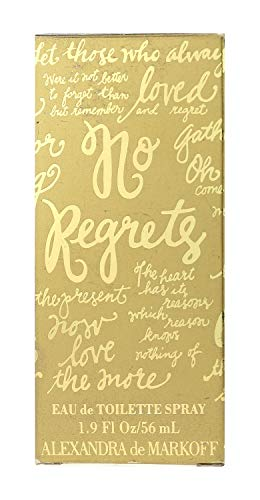 No Regrets By Alexandra De Markoff For Women. Eau De Toilette Spray 3.8 Oz / 112 Ml