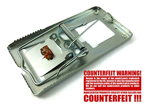 made2catch Pack of 4 Classic Metal Rat Traps Fully Galvanized - Humane Rat Traps That Work - Snap...