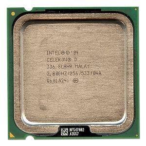Intel Celeron D 3362,8GHz 533MHz 256KB Socket 775CPU