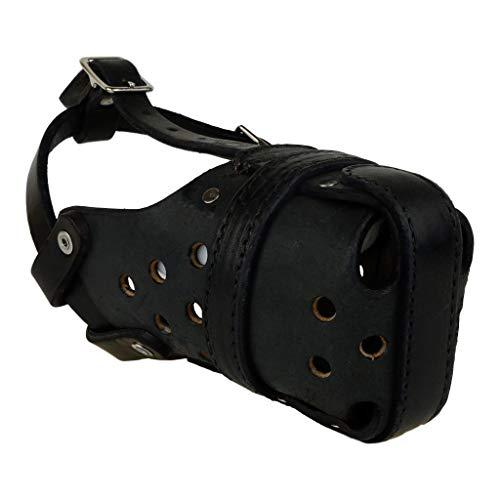 Klein Leder Erregung/Polizei Hund Maulkorb für Mali oder Schäferhund–Redline K9