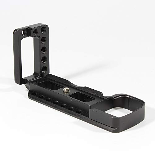 A6400 Vlog Camera Hand Grip L Plate, Quick Release Extension Bracket Handle Grip for Sony A6400 Vertical/Horizontal Video Shooting, Cold Shoe Adapter Holder Connect Microphone