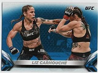 2018 Topps UFC Knockout Blue Parallel #79 Liz Carmouche Flyweight SER/99