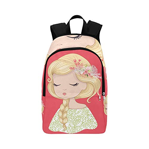 Casual Sling Bag for Women Cartoon Little Girls Pretty Fashion Durable Water Resistant Classic Lightweight Daypack for Women Bags Sport for Men Best Packable Daypack Small Bookbags for Women