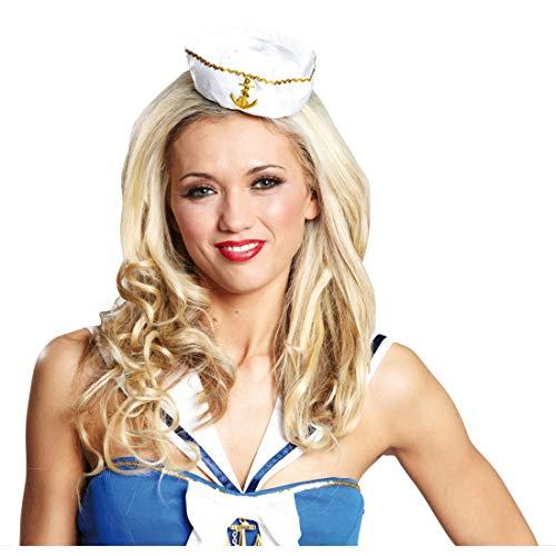 Miniature matrosenmütze marinière minihut matrosin mini chapeau bonnet pour femme blanc pour le carnaval chapeau de déguisement accessoire