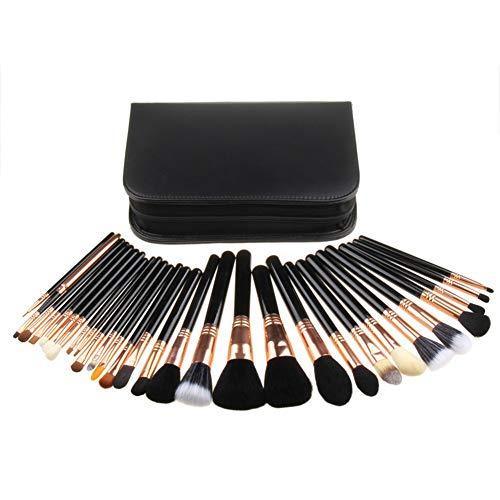 29 pinceaux de maquillage tous azimuts pour le maquillage et le maquillage, brosse oeil brosse brosse détail du visage brosse contour, doux et pas facile à déformer