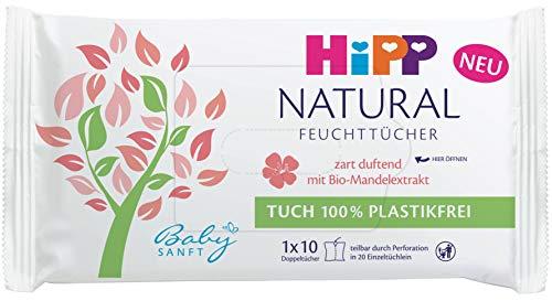 HiPP Babysanft - Toallitas húmedas naturales con aroma suave (1 x 10 unidades)