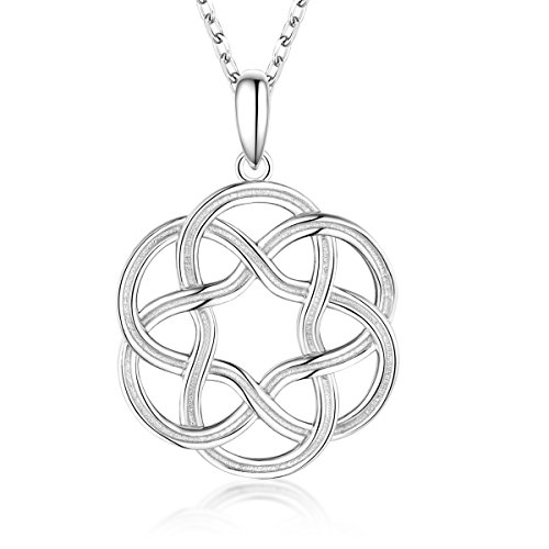Bellrela Sterling Silver Irish Celtic Knot Pendant Necklace Religious Jewelry