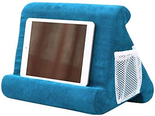 Cushion Stand Folding Trays Tablet Cushion Multi-Angle Tablet Cushion Stand Reading Pillow Mini Laptop Cushion Holder Triangle Tablet Cushion Stand Lap Stand Mobile - Grass green ( Color : Blue Lake )