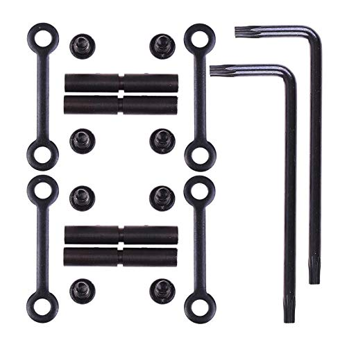 RMISODO 3 Sets Anti-Walk Pins .154 Non-Rotating Black Screws Anti-Slip Fixed Column Rotation Pins Hammer Trigger Pins Set