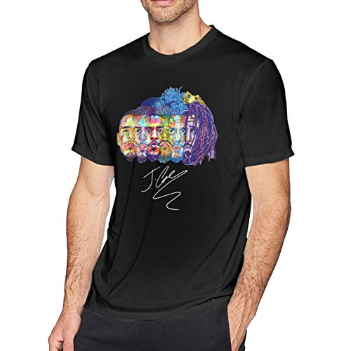 FAEOT Mens Funny Evolution of J Cole Design T-Shirt M Black