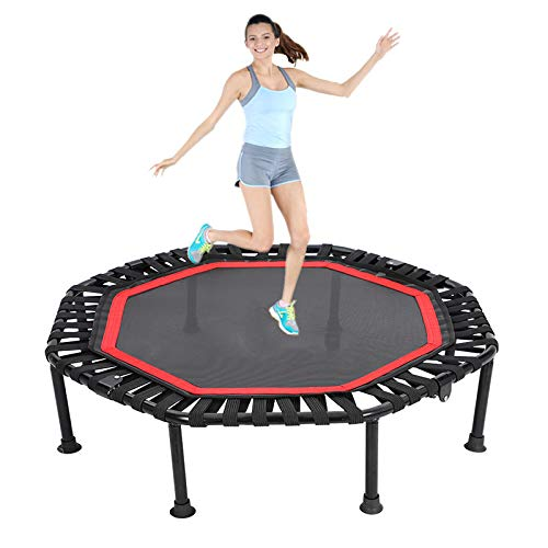 Ycrdtap Durable Silent Bounce Mini Trampoline, 40' Rebounder Bounce Workout for Children Kids, Max Weight Capacity 200Kg for Gym Or Home Outdoor,Red