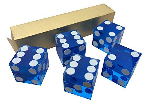 Misc Casino-Würel, Blau, 19mm, Präzisionsschliff, atemberaubend, 5 Stück