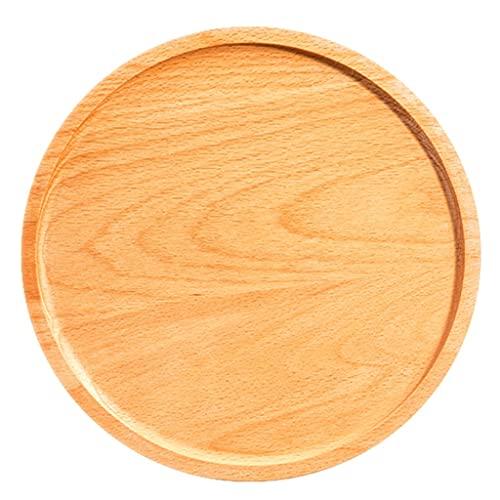 Plato De Madera Natural Para Pizza Y Tabla De Cortar Para Pizzas, Horneado De Pan, Bandeja Para Servir Frutas Y Queso Herramientas De Cocina Esenciales ( Color : Wood color , Size : 27.5×27.5×2.5cm )