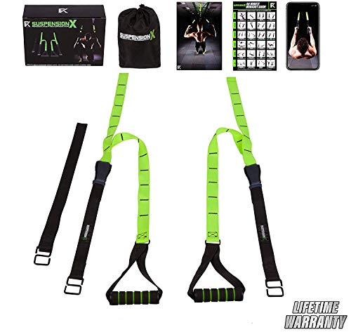 Image of the Fitness Kings Suspension X Bodyweight Resistance Suspension Straps Home Gym System - Workout Program Fitness Guide & Videos