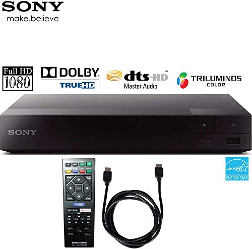 Sony BDP-S1700 Streaming Blu-ray Disc Player with 6ft High Speed HDMI Cable