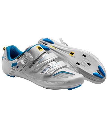 Mavic Chaussures Ksyrium Elite 2015 Femme Blanc/Bleu Chaussures Vélo blanc Pointure 38 2/3 (UK5.5)