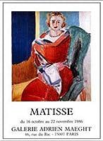 ポスター アンリ マティス Exposition 1986 額装品 アルミ製ベーシックフレーム(ホワイト)