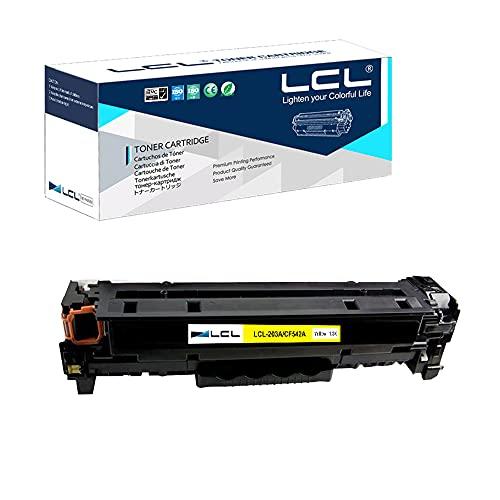 LCL Kompatibel Tonerkartusche 202A 203A CF542A CF502A (1 Gelb) Ersatz für HP Color Laserjet Pro M254dw 254NW Laser Jet Pro MFP M281dw M281CDW M281FDW M280NW M254dn M281fdn