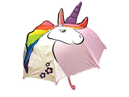 Kinder Regenschirm Einhorn Luna, rosa - ausgefallener Stockschirm, Kinderschirm