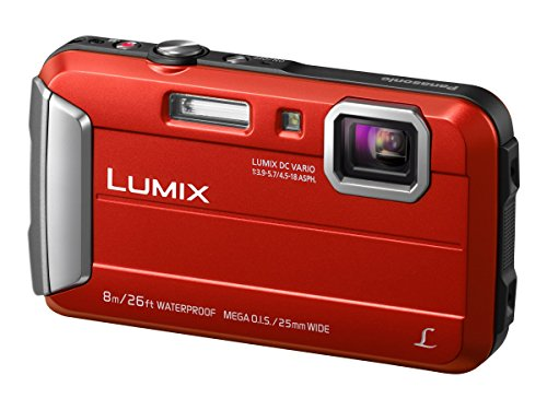 Panasonic LUMIX DMC-FT30EG-R Outdoor Kamera (16,1 MP, 4x opt. Zoom, 2,6 Zoll LCD-Display, wasserdicht bis 8 m, USB, rot)