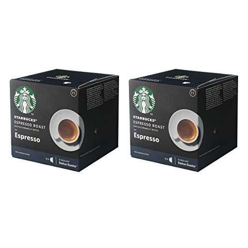 Starbucks Nescafé Dolce Gusto Espresso Roast Espresso - Juego de 2 cápsulas de café, 2 x 12 cápsulas