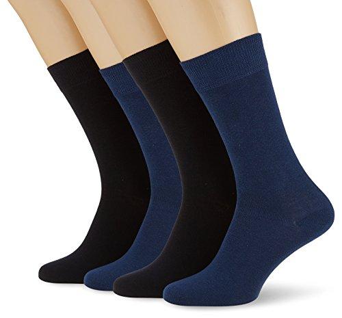 s.Oliver Socks Herren S20028 Socken, Blau (Navy 0004), 47/50 (Herstellergröße: 47/49) (4er Pack)