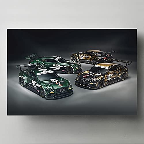 Pintura al óleo Carteles de superdeportivos Dodge Challenger cuadro de coche rojo lienzo pintura pared arte impresiones decoración de habitación moderna para el hogar 24x36pulgadas