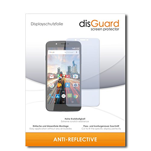 disGuard® Bildschirmschutzfolie [Anti-Reflex] kompatibel mit Archos 55 Helium Ultra [2 Stück] Entspiegelnd, Matt, Antireflektierend, Extrem Kratzfest, Anti-Fingerabdruck - Panzerglas Folie, Schutzfolie