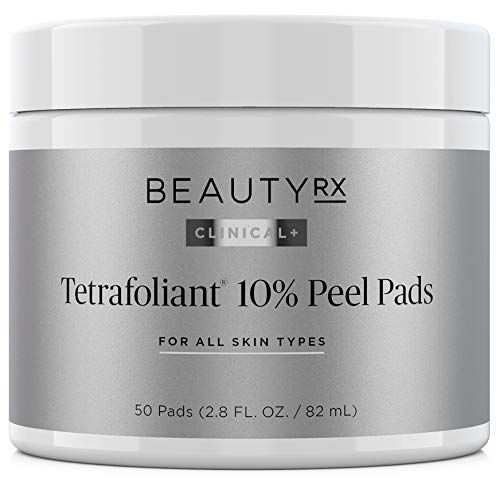 BeautyRx by Dr. Schultz Advanced 10% Glycolic Acid Peel Pads for Fine Lines, Wrinkles, Uneven Skin Tone & Texture