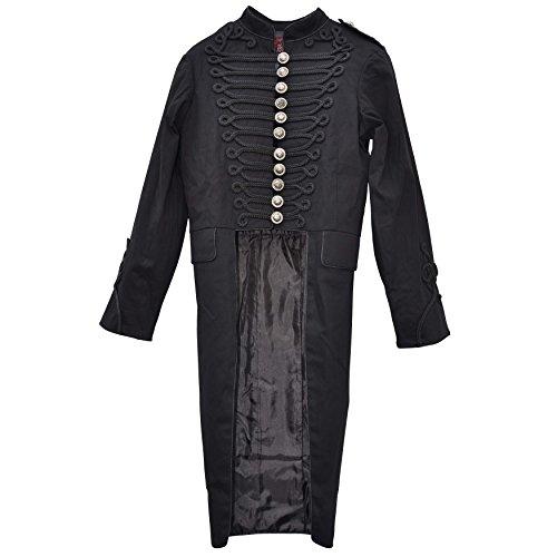 Zoelibat 30006405.008S Halloween Herrenmantel mit Biesen, lang Steampunk Mantel, Frack Stil, Groß...