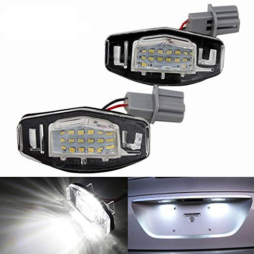 GOFORJUMP 1 lumière de Plaque d'immatriculation sans Erreur de 1 Paire Canbus LED pour H/Onda Accord Pilote civique O/dyssey A/Lampe de Plaque d'immatriculation MDX RL TL TSX RDX