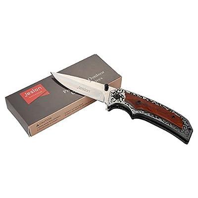 Jeslon Pocket Knife Folding Knife Pliers, Outdoor Hunting Folding Knives Key Chain,Folding Knife,Pocket Knife,Fruit Peeler by Jeslon