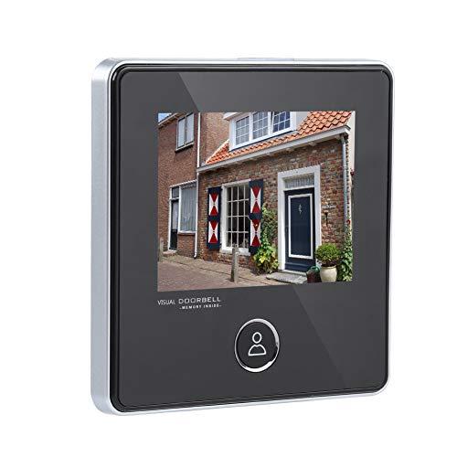 Tangxi Digitaler Türspion, kabelloser Türspion 3MP 3-Zoll-TFT-LCD-Bildschirm + 120 ° Weitwinkel + IR-Nachtsicht, Türklingelkamera für die Sicherheit zu Hause