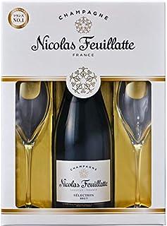 ニコラ・フィアット ブリュット ホワイトラベル 750ml.hn グラス付セット グラス2個付き
