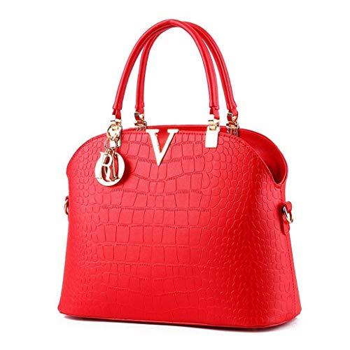 N/A NA Tracolla-Borse e borsette in Pelle for Modo delle Signore delle Donne Maniglia Superiore Cartella della Spalla Tote Bags (Color : D)