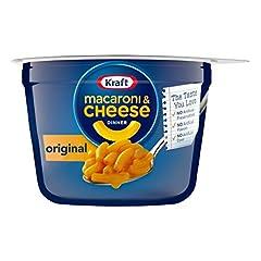 Ten 2.05 ounce cups of Kraft Easy Mac Original Flavor Macaroni and Cheese Kraft Easy Mac Original Flavor Macaroni and Cheese is an easy dinner that's ready in 3.5 minutes Macaroni and cheese dinner includes macaroni pasta and original flavor cheese s...