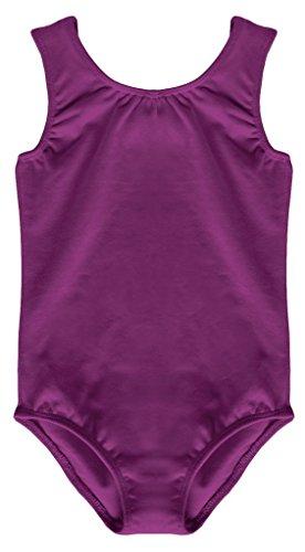 Dancina Dance Leotard Tank Top Girls Sleeveless Motionwear For Ballet and Gymnastics 8 Purple