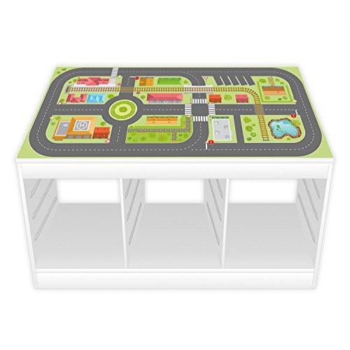 Spielfolie/Möbelfolie für IKEA TROFAST Stadtleben Aufkleber Sticker Kinderzimmer Spieltisch (Möbel Nicht inklusive)