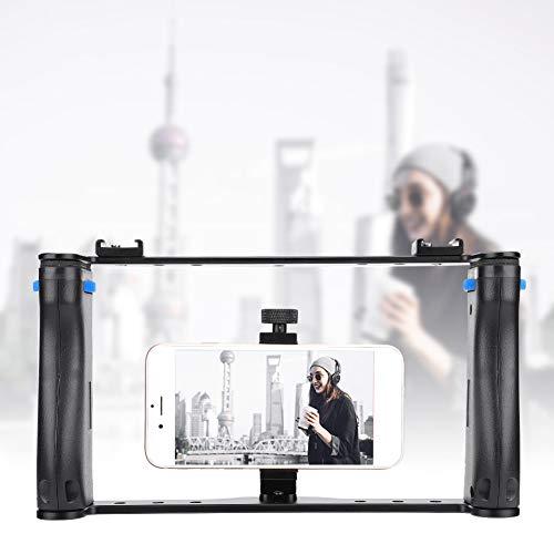 Zopsc-1 Empuñadura de cámara, Jaula de cámara, portátil con Orificio de Rosca de 1/4 '' de Mano 2 en 1 para Sujetar la Mano con Smartphone